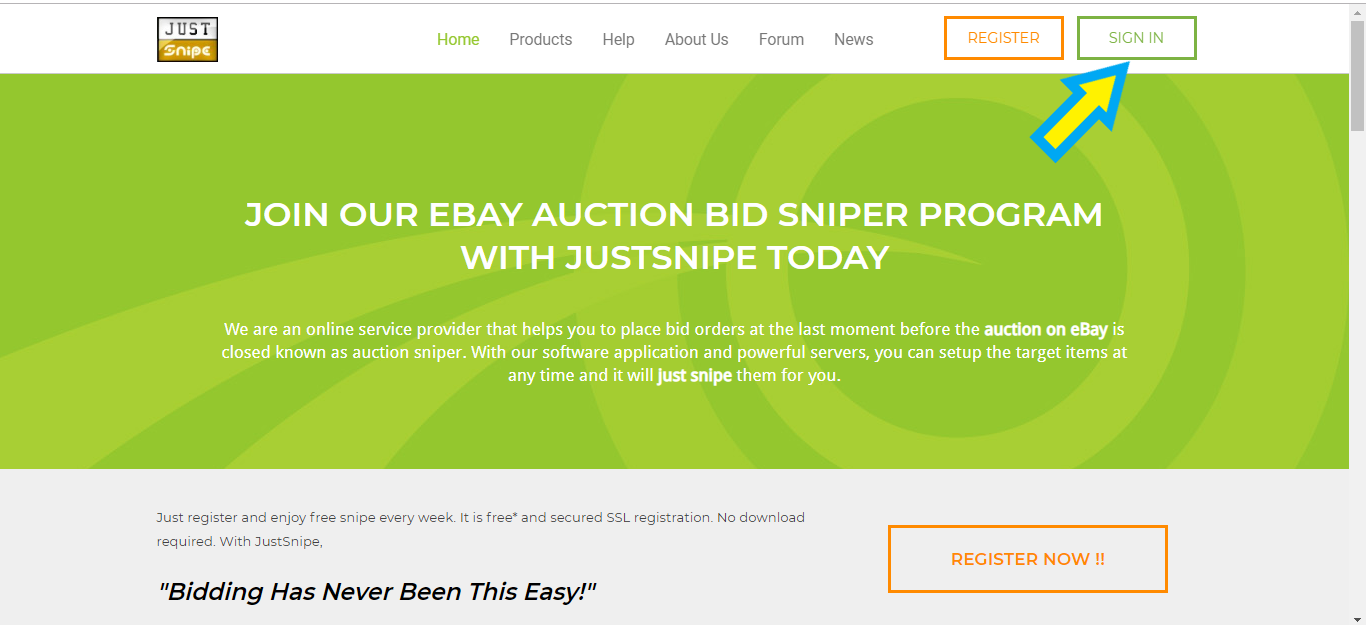 Help And Faq Using Justsnipe Auction Sniper Software My Site